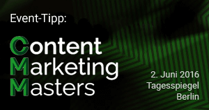 Event-Tipp: Content Marketing Masters