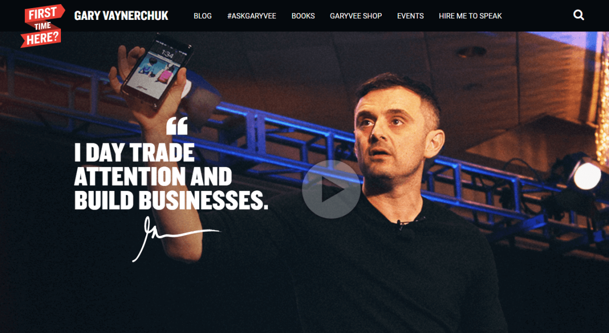 Gary Vaynerchuks Website