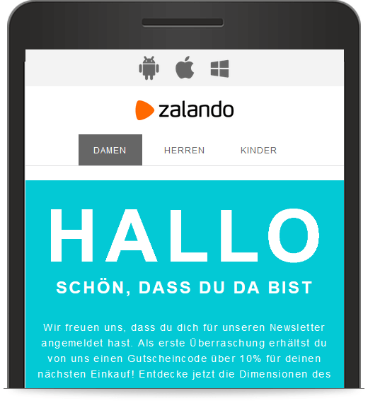 Zalandos E-Mail-Marketing