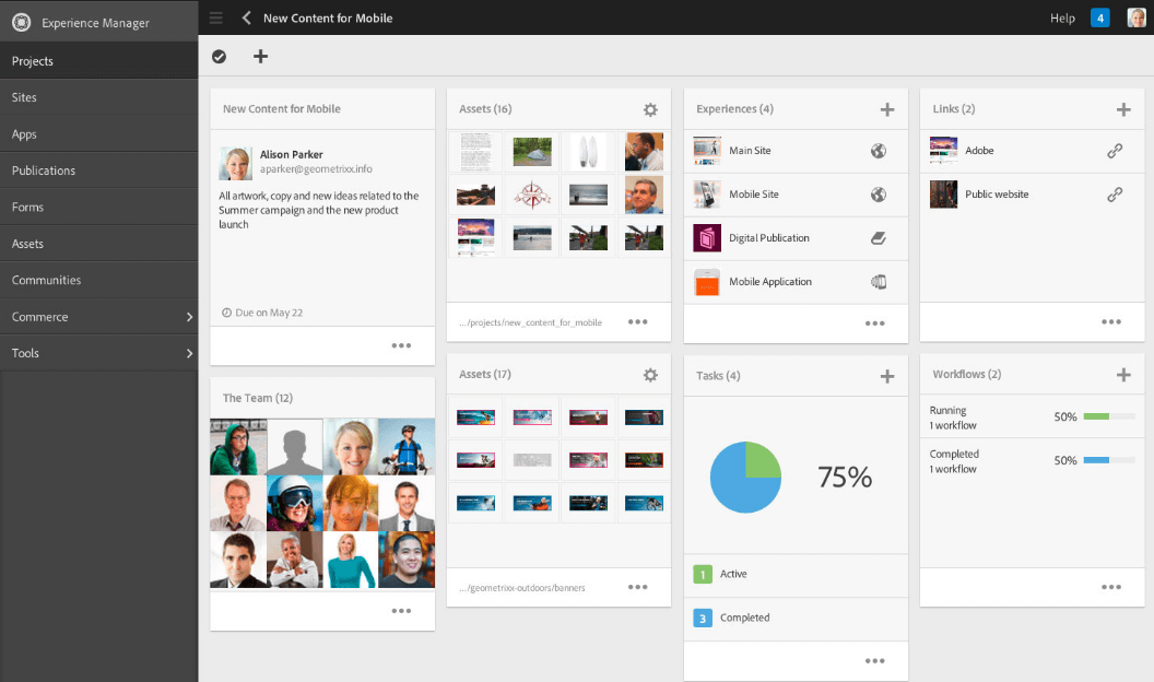 Digital Asset Management via Adobe Experience Manager