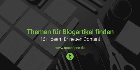 Blogs Finden content marketing 16 ideen um blogartikel themen zu finden