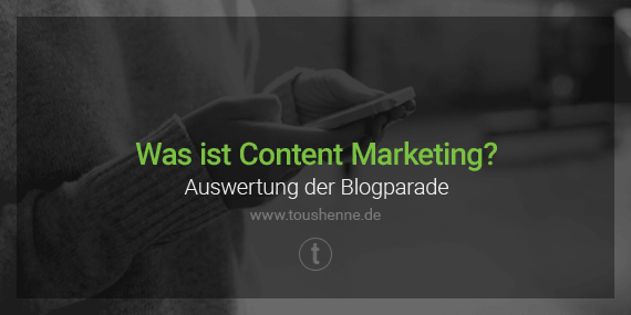 Content Marketing Blogparade Auswertung